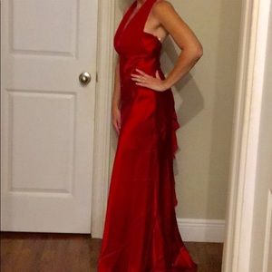 David's Bridal Gorgeous Red Formal Dress size 6